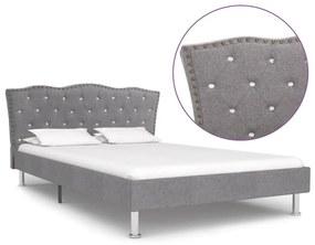 280538 vidaXL Estrutura de cama em tecido 120x200 cm cinzento-claro