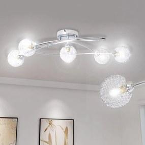 241481 vidaXL Candeeiro de tecto com sombra em malha de arame, para 5 lâmpadas G9
