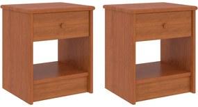 Mesas de cabeceira 2 pcs 35x30x40 cm pinho maciço castanho mel