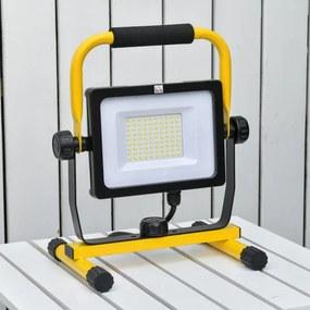 Foco de Trabalho LED 50W Luz de Trabalho Portátil 360° Giratório Impermeável IP65 Iluminação 5000-6000 Lúmens e 5000K Branco pa