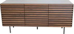 Aparador moderno 3 portas em madeira de nogueira