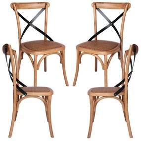 Pack 4 Cadeiras Altea Carvalho Claro