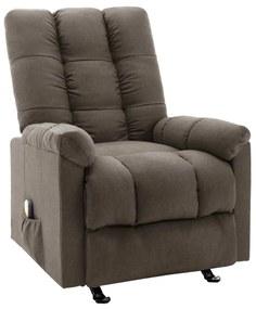 321414 vidaXL Poltrona de massagens reclinável tecido castanho