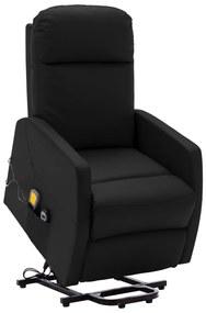 321373 vidaXL Poltrona massagens reclinável elevatória couro artificial preto