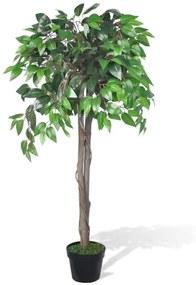 241360 vidaXL Planta artificial, ficus, com vaso, 110 cm