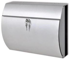 50352 vidaXL Caixa de correio em aço inoxidável