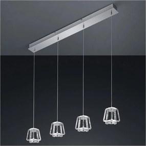 Trio - Candelabro suspenso LED com regulação QUIRL 4xLED/4,5W/230V
