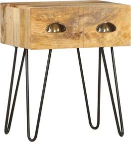 Mesa de cabeceira 40x30x50 cm madeira de mangueira maciça