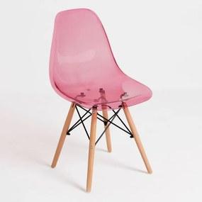 Cadeira Oslo Transparente Cor: Rosa