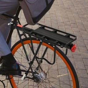HOMCOM Suporte de Bicicleta Traseiro com Refletor 58x39x14,5 cm Preto