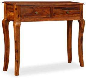 245159 vidaXL Mesa consola em madeira de sheesham maciça 90x32x76 cm