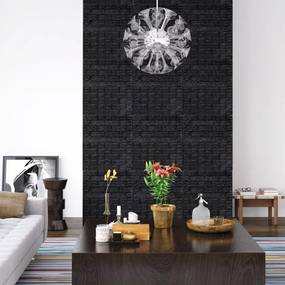150725 vidaXL Papel de parede 3D autoadesivo tijolos 20 pcs preto