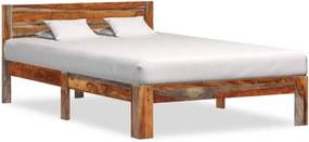 Estrutura de cama 120x200 cm madeira de sheesham maciça