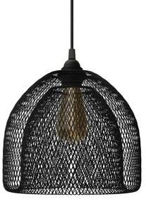 Abajur de metal em gaiola de lâmpada nua Ghostbell XL com encaixe E27 - Preto