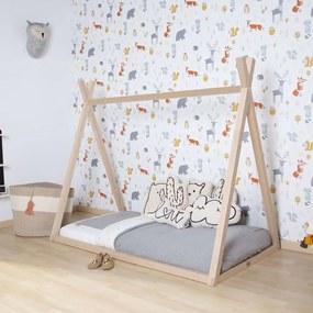 434147 CHILDHOME Estrutura de cama Tipi 70x140 cm madeira natural