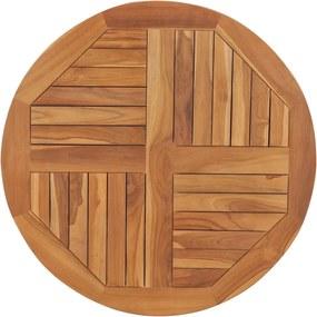 Tampo de mesa redondo 2,5 cm 80 cm madeira de teca maciça