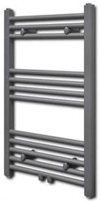 141889 vidaXL Aquecedor toalhas casa de banho liso 500 x 764 mm cinzento