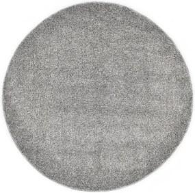 Tapete de divisão shaggy 120 cm cinzento