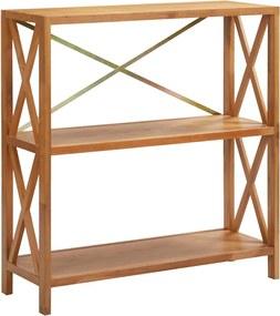 Estante com 3 prateleiras 80x30x87 cm madeira carvalho maciça