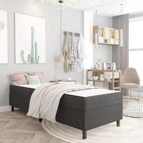 287461 vidaXL Estrutura de cama 90x200 cm tecido cinzento