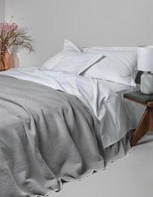 Jogo de lençóis 100 % algodão percal - Sampedro: Azul cama 140/150cm - 1 lençol superior 240 x 290 cm + 1 lençol inferior 240 x 290 cm + 2 fronha almofada 50x70 cm
