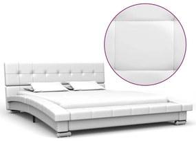280623 vidaXL Estrutura de cama 200x120 cm couro artificial branco