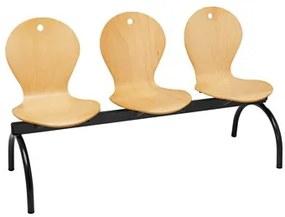 Cadeiras Receção 3 Lugares 643 (cadeiras de Escritório)