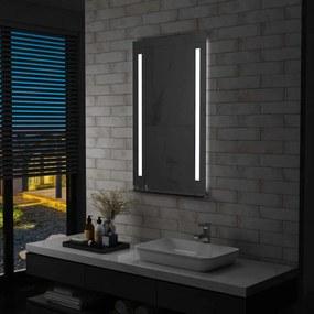 Espelho de parede LED c/ prateleira casa de banho 60x100 cm