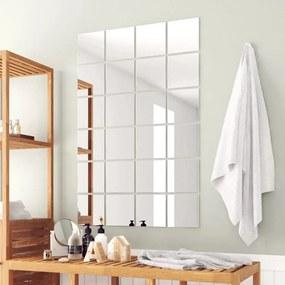 3051490 vidaXL 48 pcs ladrilhos espelhados quadrados em vidro