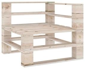 315822 vidaXL Sofá de canto em paletes p/ jardim madeira de pinho impregnada