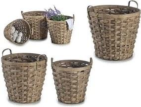 Conjunto de Cestos (3 Peças) (42 x 33,5 x 42 cm) Bambu