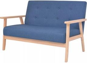 Sofá de 2 lugares em tecido azul