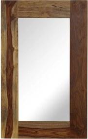 Espelho em madeira de sheesham maciça 50x80 cm