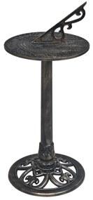48225 vidaXL Relógio de sol 35,5x82 cm plástico bronze