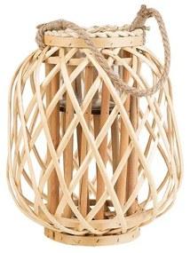 Lanterna decorativa 30 cm castanho claro MAURITIUS