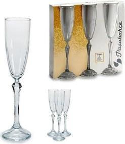 Copo de champanhe Vidro 3 (3 Peças) (6,5 x 25 x 25,5 cm)