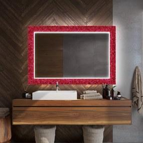 Rectangulares espelho decorativo com iluminação para o banheiro  x=60 x   y=60 cm