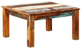 240959 vidaXL Mesa de centro quadrada em madeira reciclada