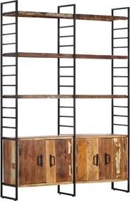 Estante c/ 4 prateleiras 124x30x180cm madeira recuperada maciça