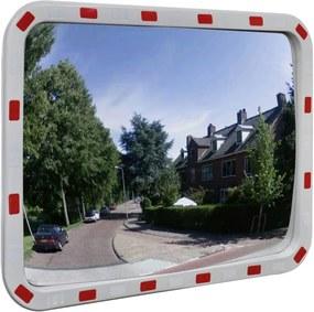 Espelho retrovisor convexo retangular 60 x 80 cm com refletores