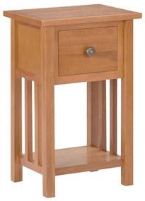 289182 vidaXL Mesa de apoio com gaveta 35x27x55 cm madeira carvalho maciça