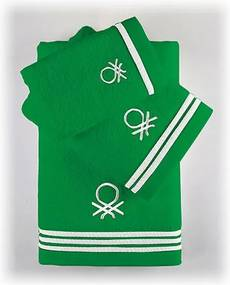 Jogo de toalhas Benetton Rainbow Verde (3 pcs)