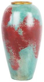 Vaso decorativo vermelho e verde CARTEIA