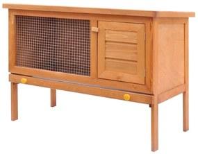 170157 vidaXL Coelheira para animais pequenos 1 andar exterior madeira