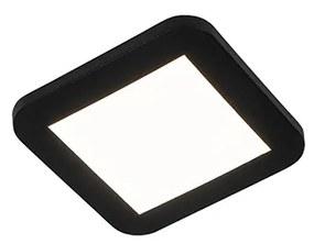 Plafon preto 3-etapas-dimerizável LED IP44 - STEVE Moderno