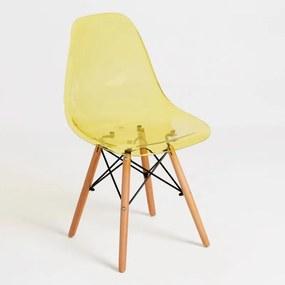 Cadeira Oslo Transparente Cor: Amarelo
