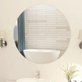 283655 vidaXL Espelho sem moldura redondo 90 cm vidro