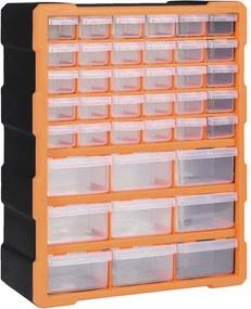Caixa organizadora com 39 gavetas 38x16x47 cm