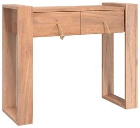 287896 vidaXL Mesa consola 90x35x75 cm madeira de teca maciça