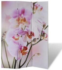 240475 vidaXL Biombo dobrável com estampa de flores 120x170 cm